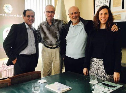 Dr Gustavo Bravo, Dr Francisco Sánchez-Moreno, Manuel Amarilla y Nuria Amarilla