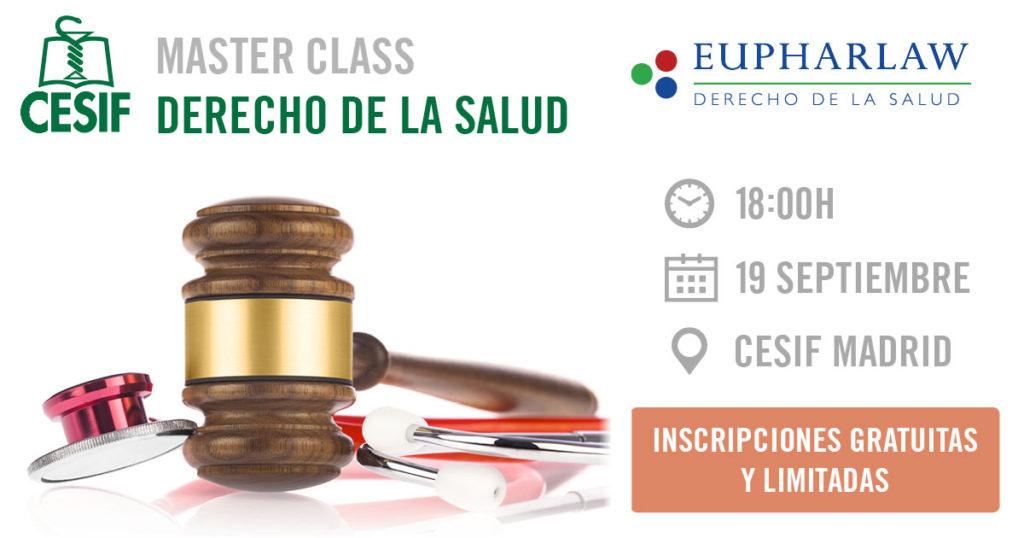 V edición del Máster en Derecho de la Salud CESIF-EUPHARLAW