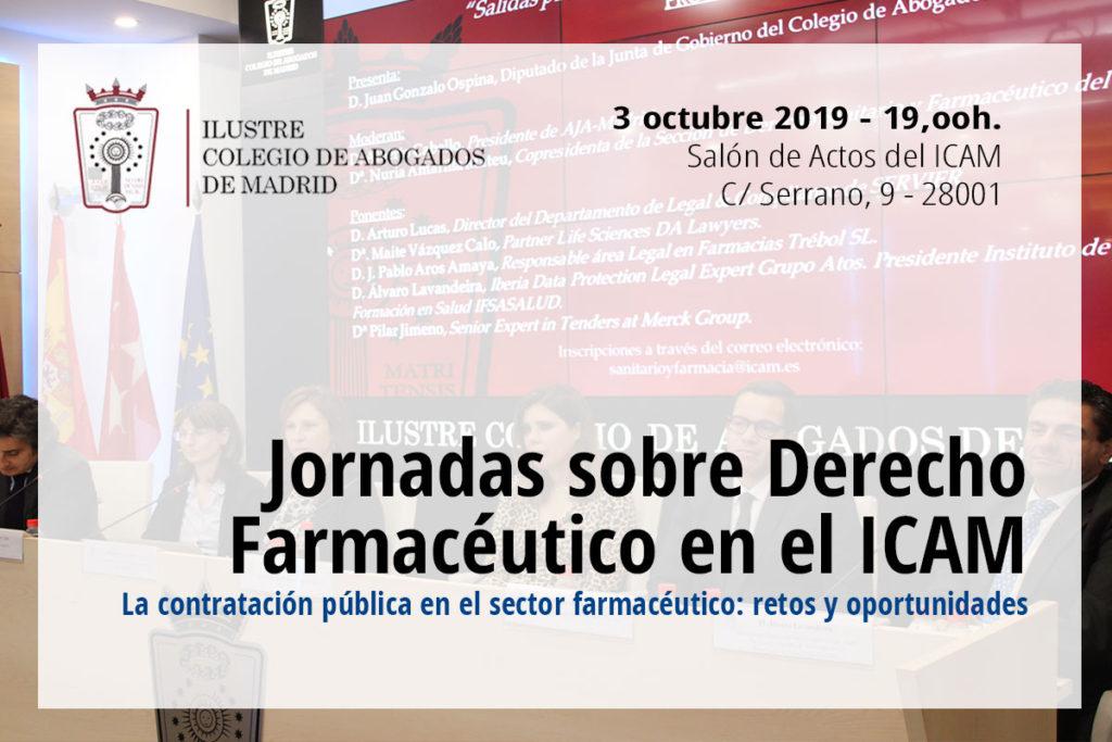 Vuelven las Jornadas sobre Derecho Farmacéutico en el ICAM