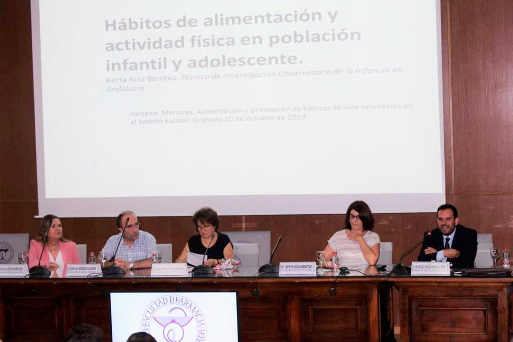 """Jornada """"Menores, alimentación y promoción de hábitos de vida saludable en el ámbito escolar"""" en la Universidad de Granada"""